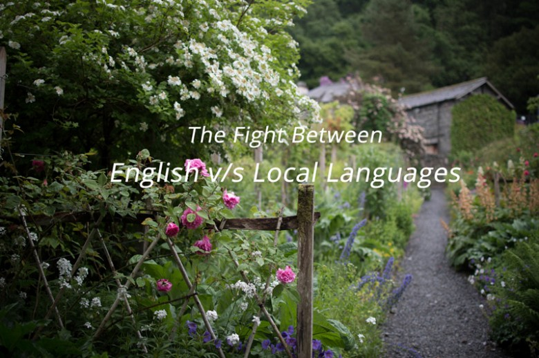 fight between english vs local language