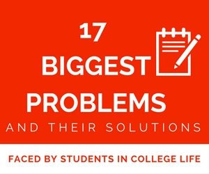 17 biggest problems faced by college students